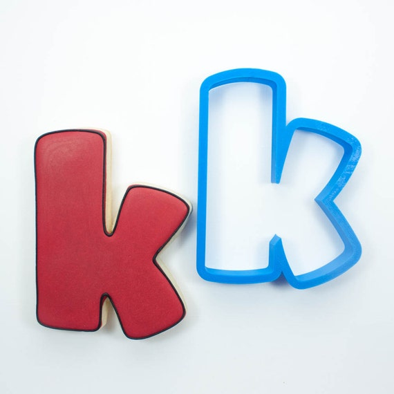 Letter K Cookie Cutter | Alphabet Cookie Cutters | Letter Cookie Cutters | ABC Cookie Cutters | Large Alphabet Cookie Cutters