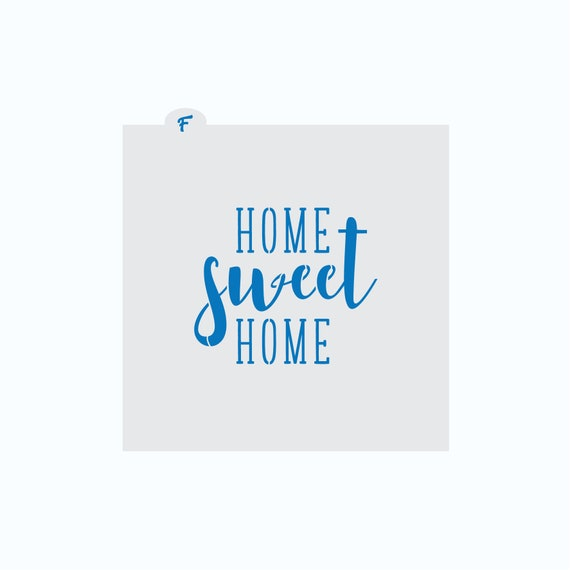 Home Sweet Home Stencil | Home Sweet Home Cookie Stencil | Cookie Stencil | Plaque Cookie Stencil | New Home Cookie Stencil | FrostedCo