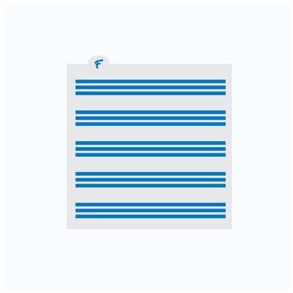 Stripes Stencil | Stripes Cookie Stencil | 4th of July Cookie Stencil | Patriotic Cookie Stencil | America Cookie Stencil | FrostedCo