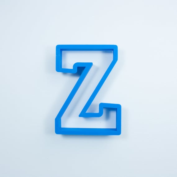 Block Letter Z Cookie Cutter | Alphabet Cookie Cutters | Letter Cookie Cutters | ABC Cookie Cutters | Block Letters Alphabet Cookie Cutters