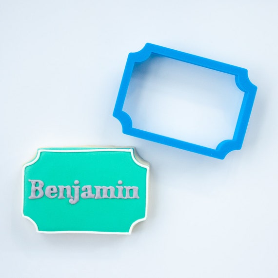 Plaque Cookie Cutter | Benjamin Plaque Cookie Cutter | 3D Cookie Cutter | FrostedCo