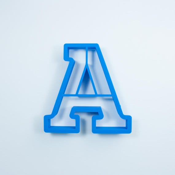 Block Letter A Cookie Cutter | Alphabet Cookie Cutters | Letter Cookie Cutters | ABC Cookie Cutters | Block Letters Alphabet Cookie Cutters