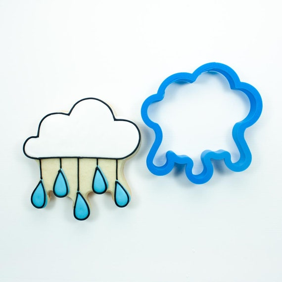 Cloud with Raindrops Cookie Cutter