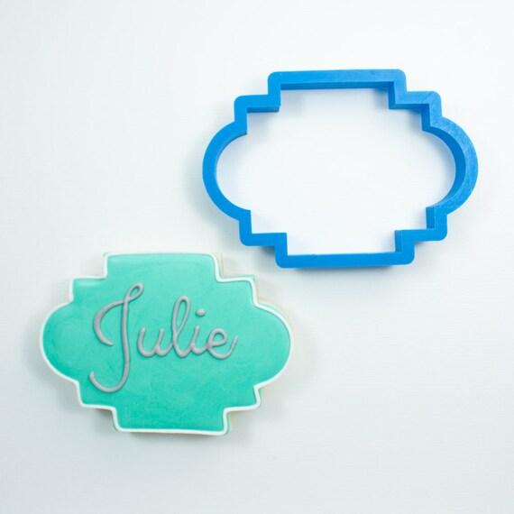 The Julie Plaque Cookie Cutter