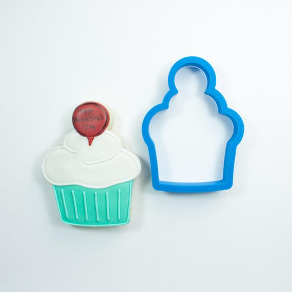 Cupcake with Circle Topper Cookie Cutter | Birthday Cookie Cutter | Cake Cookie Cutter | Mini Cookie Cutter | Cake Cookie Cutter