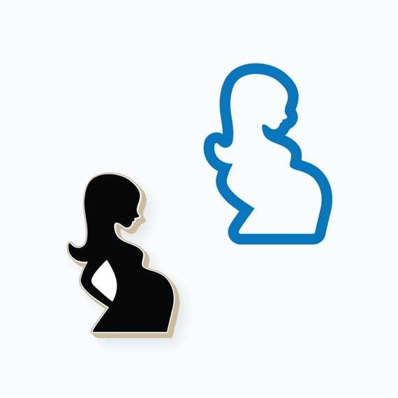 Baby Shower Cookie Cutter | Pregnant Woman Cookie Cutter | Pregnant Belly Cookie Cutter | Woman Cookie Cutter | Mother's Day Cookie Cutter