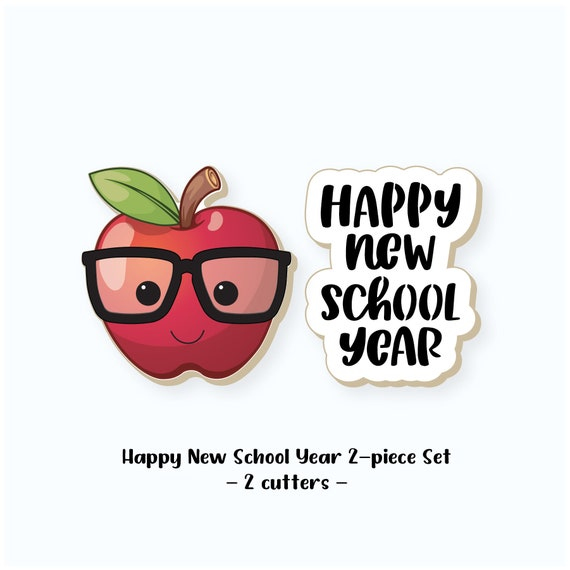 School Cookie Cutters | Back to School Cookie Cutters | Apple Cookie Cutter | Happy New School Year Cookie Cutter | FrostedCo