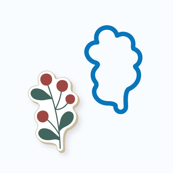 Simple Branch with Berries Cookie Cutter