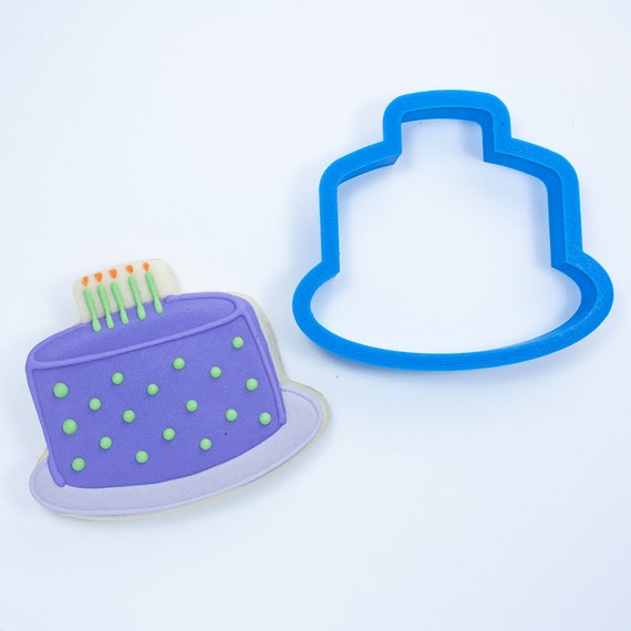Birthday Cake Cookie Cutter | Birthday Cookie Cutters | Cake Cookie Cutters | Candle Cookie Cutters | 3D Printed Cookie Cutters