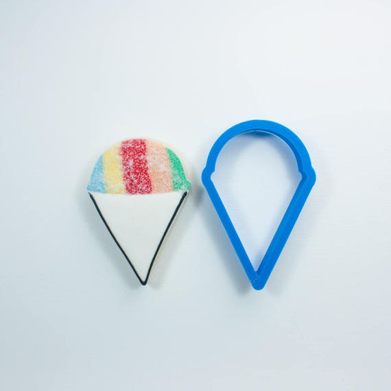 Snow Cone Cookie Cutter