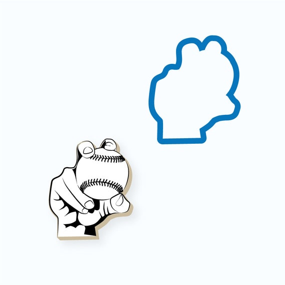 Baseball Cookie Cutter | Baseball Grip Cookie Cutter | Baseball Cookie Cutter | Curve Ball Cookie Cutter | Sports Cookie Cutter | FrostedCo