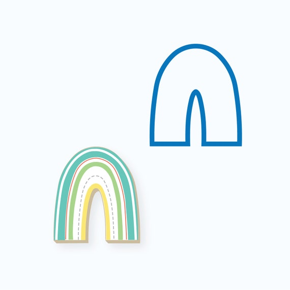 Rainbow Cookie Cutter | Birthday Cookie Cutters | Baby Shower Cookie Cutters | Spring Cookie Cutters | 3D Cookie Cutters | FrostedCo