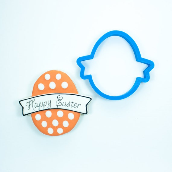 Easter Egg with Banner Cookie Cutter | Easter Egg Cookie Cutters | Easter Cookie Cutters | Mini Cutters