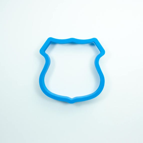 Badge Cookie Cutter | Fondant Cutter | Unique Cookie Cutter | 3D Printed Cookie Cutter | Police Cookie Cutter | Police Fondant Cutter