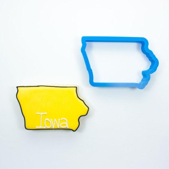 Iowa Cookie Cutter | State Cookie Cutters | State Shaped Cookie Cutters | USA Cookie Cutters | 3D Cookie Cutters | Unique Cookie Cutters