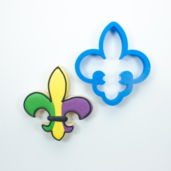 Fleur de Lis Cookie Cutter | Mardi Gras Cookie Cutter | New Orleans Cookie Cutter | Mini Cookie Cutter | Mardi Gras Mask Cookie Cutter