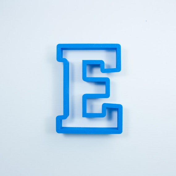 Block Letter E Cookie Cutter | Alphabet Cookie Cutters | Letter Cookie Cutters | ABC Cookie Cutters | Block Letters Alphabet Cookie Cutters