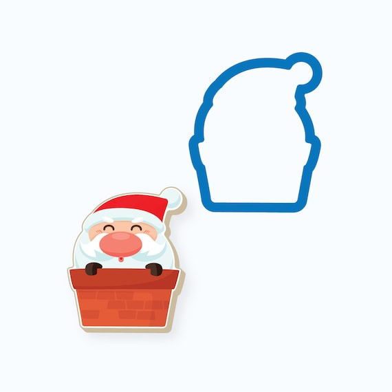 Chubby Santa in Chimney Cookie Cutter