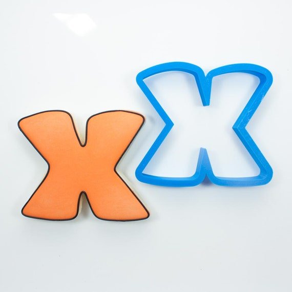 Letter X Cookie Cutter | Alphabet Cookie Cutters | Letter Cookie Cutters | ABC Cookie Cutters | Large Alphabet Cookie Cutters