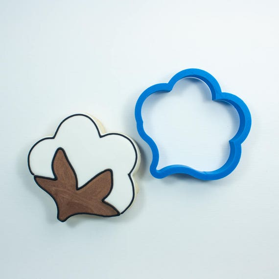 Cotton Blossom Cookie Cutter | Cotton Cookie Cutter | Unique Cookie Cutters | Frosted Cookies