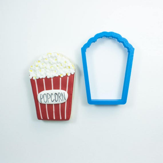 Popcorn Cookie Cutter | Movie Cookie Cutters | Popcorn Bag Cookie Cutter | Oscars Cookie Cutter | Mini Popcorn Cookie Cutters | Frosted.co