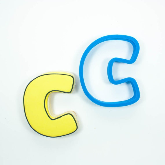 Letter C Cookie Cutter | Alphabet Cookie Cutters | Letter Cookie Cutters | ABC Cookie Cutters | Large Alphabet Cookie Cutters