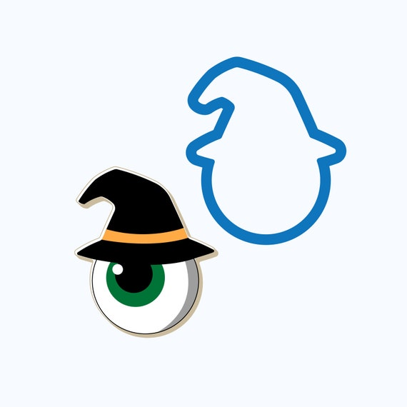 Eyeball with Witch Hat Cookie Cutter