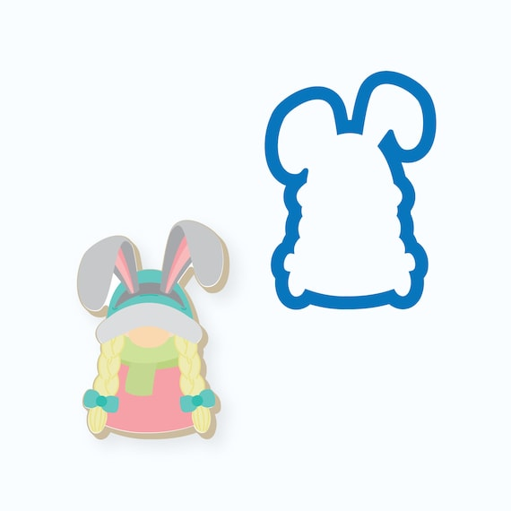 Easter Cookie Cutter | Bunny Gnome Cookie Cutter | Girl Gnome Cookie Cutter | Bunny Cookie Cutter | Easter Gnome Cookie Cutter