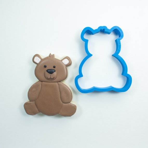 Chubby Teddy Bear Cookie Cutter | Woodland Cookie Cutters | Bear Cookie Cutters | Bear Shaped Cookie Cutter | Mini Cookie Cutters