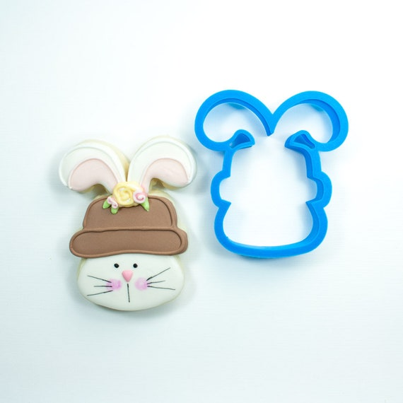 Bunny with Hat Cookie Cutter | Easter Bunny Cookie Cutter | Easter Cookie Cutter | Unique Cookie Cutter | Fondant Cutter | Mini Cutter