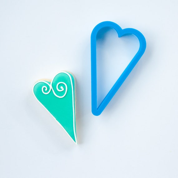 Skinny Heart Cookie Cutter | Heart Shaped Cookie Cutter | Mini Heart Cookie Cutter | Valentine Cookie Cutter | Small Heart Cookie Cutter