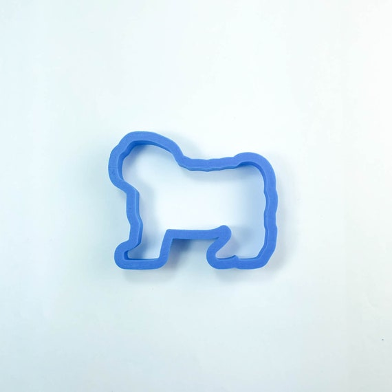 Pug Cookie Cutter | Dog Cookie Cutter | Doggie Cookie Cutter | Custom Cookie Cutter | Dog Treat Cookie Cutter | Dog Bone
