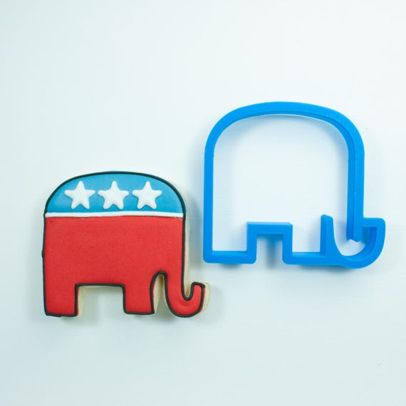 Republican Elephant Cookie Cutter | GOP Cookie Cutter | Custom Cookie Cutter | Unique Cookie Cutters | Mini Cookie Cutters