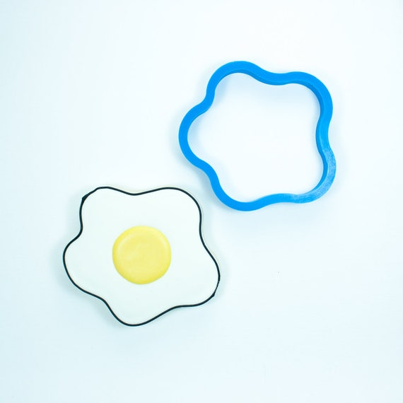 Fried Egg Cookie Cutter | Fondant Cutter | Unique Cookie Cutter | 3D Printed Cookie Cutter | Egg Cookie Cutter | Egg Fondant Cutter