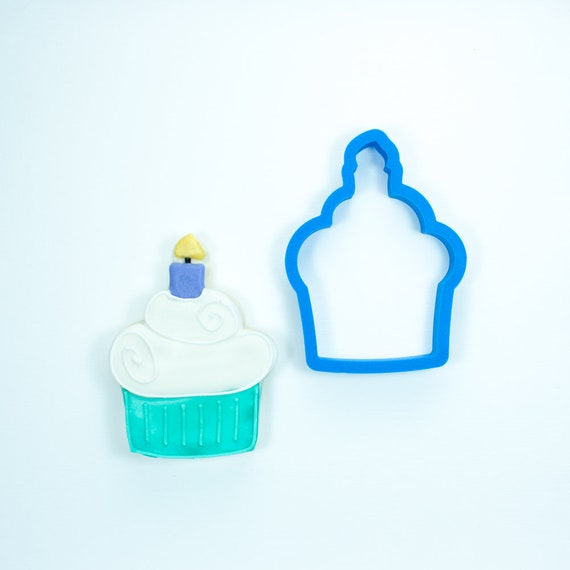 Cupcake with Candle Cookie Cutter | Birthday Cookie Cutter | Cake Cookie Cutter | Mini Cookie Cutter | Unique Cookie Cutters