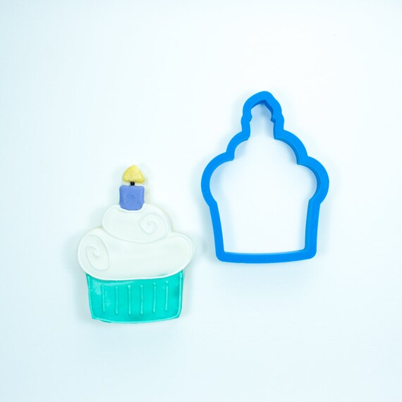 Cupcake With Candle Cookie Cutter Birthday