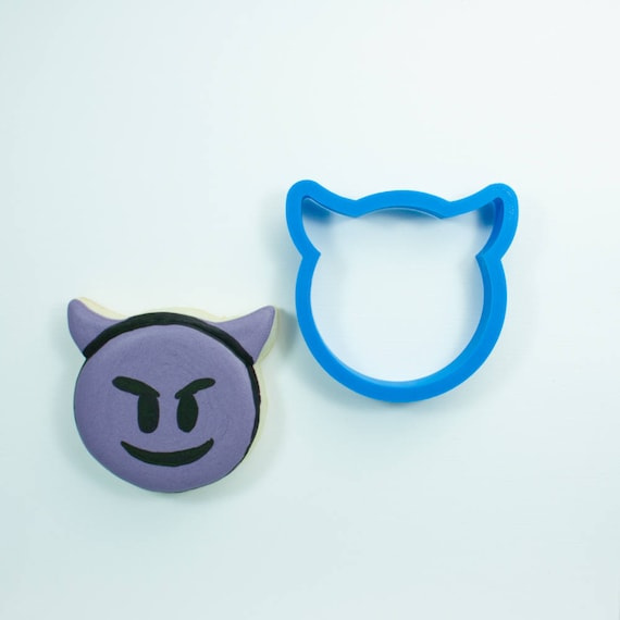 Devil Emoji Cookie Cutter | Devil Cookie Cutter | Devil Face Cookie Cutter | Emoji Cookie Cutter | Emoji Cookie Cutters | Mini Emoji Cookie