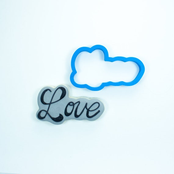Love (script) Cookie Cutter | Valentine Cookie Cutter | Valentines Cookie Cutter | Word Cookie Cutters