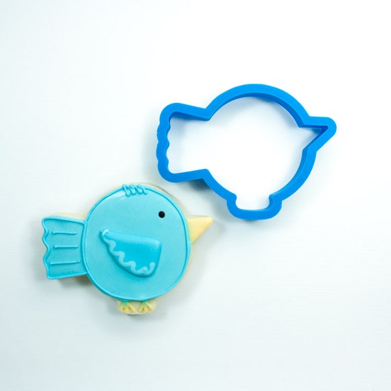 Round Bird Cookie Cutter | Bird Fondant Cutter | Custom Cookie Cutters | Unique Cookie Cutter | 3D Cookie Cutters | Mini Cutters