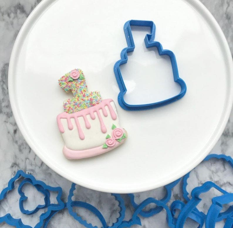 The Flour De Lis 1st Birthday Cake Cookie Cutter