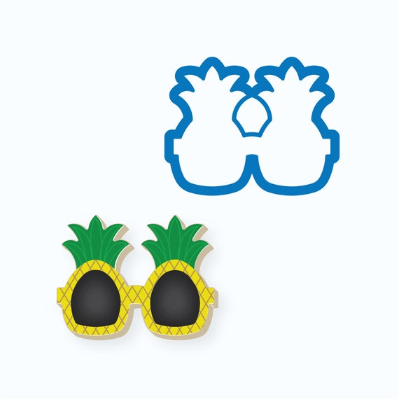 Sunglasses Cookie Cutter | Pineapple Sunglasses Cookie Cutter | Glasses Cookie Cutter | Mini Sunglasses Cookie Cutter | Beach Cookie Cutters