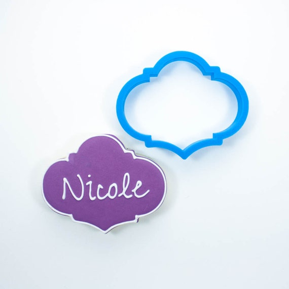 The Nicole Plaque Cookie Cutter