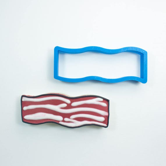Bacon Cookie Cutter| Filmstrip Cookie Cutter | Food Cookie Cutters | Unique Cookie Cutters | Frosted Cookie Cutters | Frosted.co