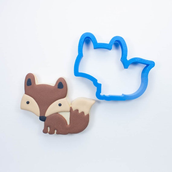 Woodland Animals Set - Fox, Deer, Skunk,and Hedgehog Cookie Cutters