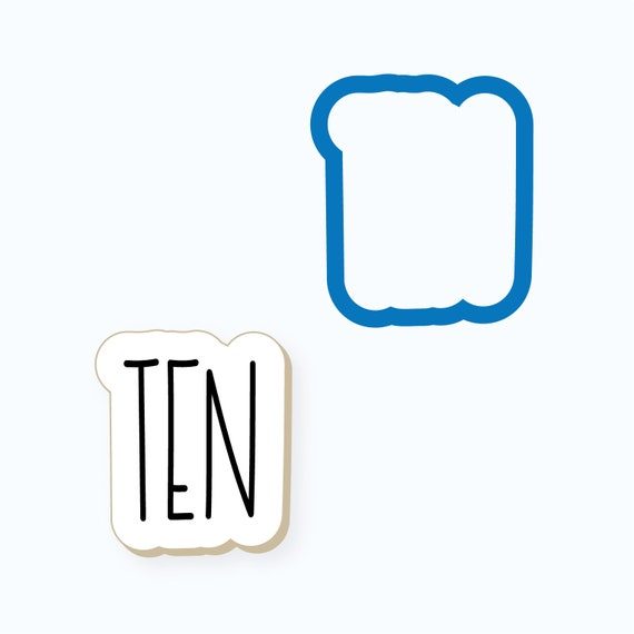 Simple Number Ten Plaque Cookie Cutter