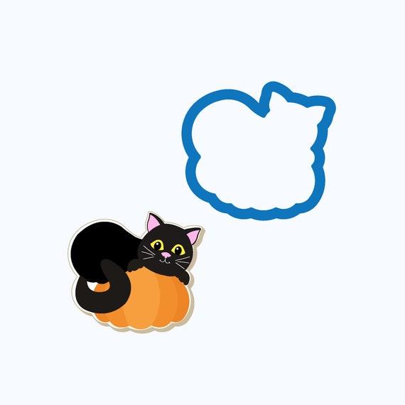 Cat on Pumpkin Cookie Cutter