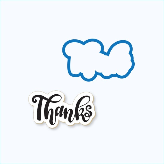 Thanks Plaque Cookie Cutter | Thank you Cookie Cutter | Plaque Cookies |  Plaque Cookie Cutter | Frosted Cutters