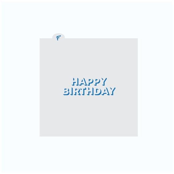 Birthday Stencil | Happy Birthday Cookie Stencil