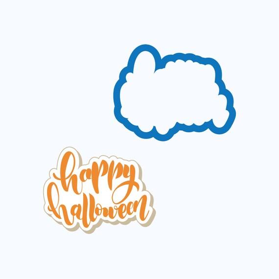 Happy Halloween Plaque Cookie Cutter