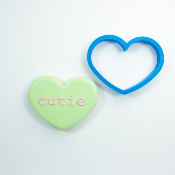 Wide Heart Cookie Cutter | Heart Shaped Cookie Cutter | Heart Cookie Cutters | Mini Heart Cookie Cutter | Small Heart Cookie Cutter